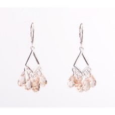 Sterling Silver and Swarovski Crystal Chandelier Earrings IV