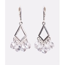 Sterling Silver and Swarovski Crystal Chandelier Earrings V
