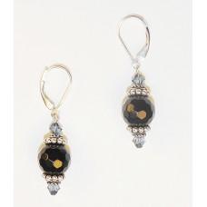 Black Faceted Onyx Earrings
