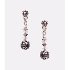 Sterling Silver and Swarovski Crystal Earrings II