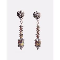 Swarovski Multi Faceted Prismatic Crystal Earrings