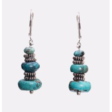 Kingman Turquoise and Sterling Silver Earrings
