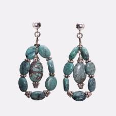 Kingman Turquoise and Sterling Silver Earrings II