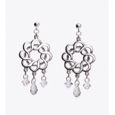 Sterling Silver and Swarovski Crystal Chandelier Earrings I