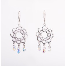Sterling Silver and Swarovski Crystal Chandelier Earrings II