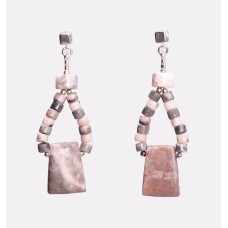 Pink Zebra Jasper Earrings