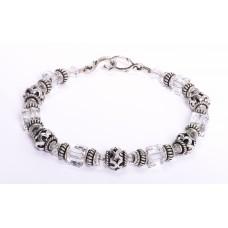 Swarovski Crystal Bali Sterling Silver Bracelet II