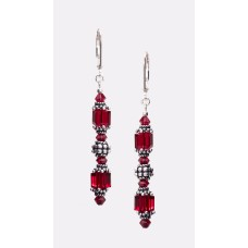 Swarovski Crystal Red Extravaganza Earrings