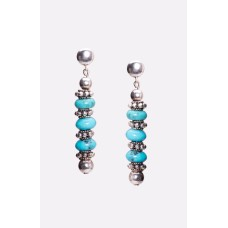 Sleeping Beauty Pure Sky Blue Turquoise and Sterling Silver Earrings