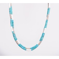 Kingman Turquoise, Oyster & Clam Shell Double Strand Necklace