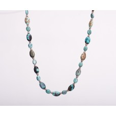 Kingman Turquoise and Sterling Silver Necklace II