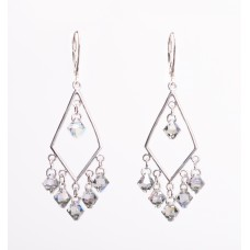 Sterling Silver and Swarovski Crystal Chandelier Earrings III
