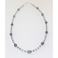 Blue Denim Swarovski Crystal Necklace