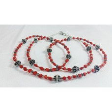 Rare Red Mediterranean Coral Long Necklace
