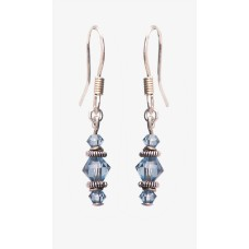 Swarovski Crystal Blue Denim Earrings