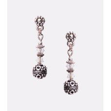 Sterling Silver and Swarovski Crystal Earrings II
