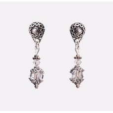 Swarovski Clear Crystal Faceted Graphic Cube Earrings