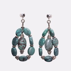 Kingman Turquoise and Sterling Silver Earrings II