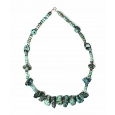 *Kingman Turquoise Chunk and Sterling Silver Necklace*