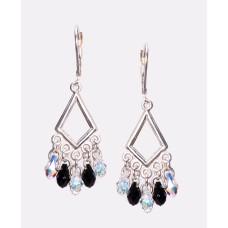 Sterling Silver and Swarovski Crystal Chandelier Earrings VI