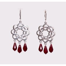 Sterling Silver and Swarovski Crystal Chandelier Earrings VII