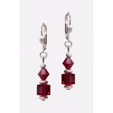 Swarovski Ruby Red Crystal Earrings
