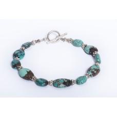 Kingman Turquoise and Sterling Silver Bracelet II