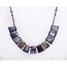 Orange Sodalite Trapezoid Necklace