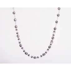 Swarovski Crystal and Sterling Silver Bali Necklace