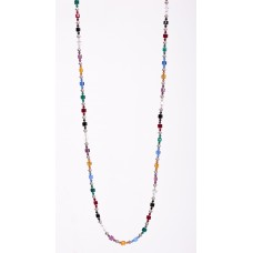 Multi Colored Swarovski Crystal Sterling Silver Necklace