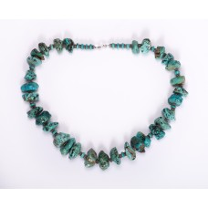 Kingman Turquoise Nugget and Sterling Silver Necklace